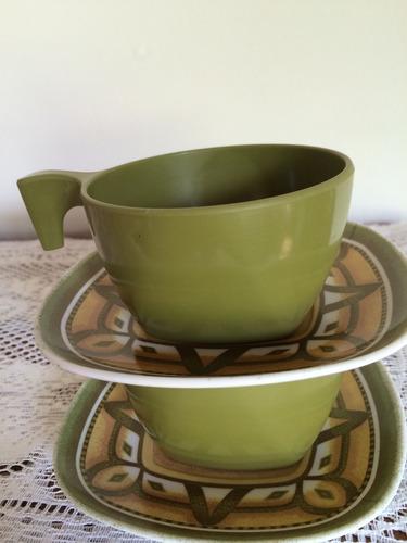 xícaras de chá com pires - goyana - melcrome- jogo c/ 6