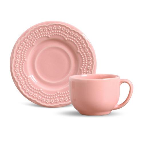 xícaras de chá porto brasil madeleine rosa 6 unidades