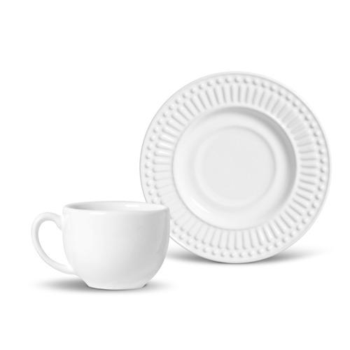 xícaras de chá porto brasil roma branco 6 unidades