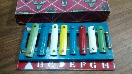 xilofon antiguo de  chapa  decada del 60  sin palitos $ 450