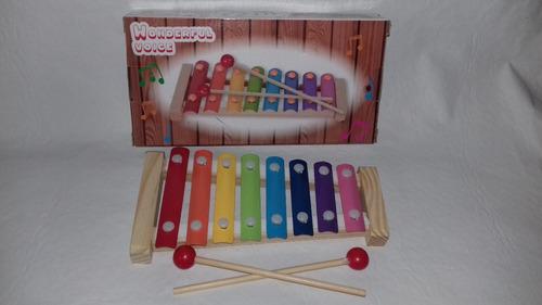 xilofon chico 8 notas infantil pappo records