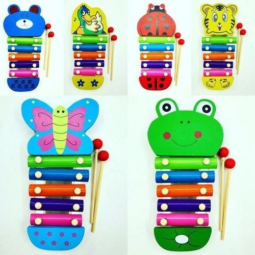 xilofon madera didactico notas musicales animales juego