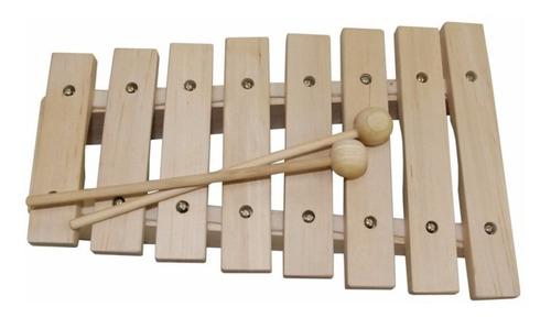 xilofone dolphin em madeira 8 notas musicalização infantil