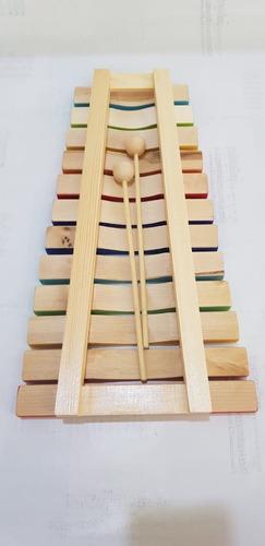 xilofone infantil de 12 notas dolphin madeira colorido 9735