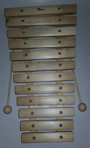 xilofone infantil de 12 notas dolphin madeira musicalização