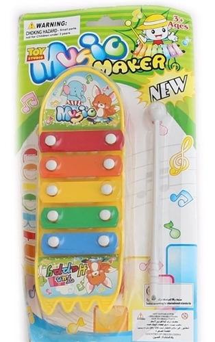 xilofone musical infantil brinquedo educativo metalofone