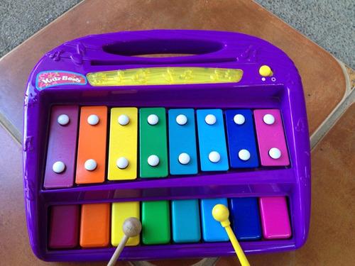 xilófono (marimba) de colores y con luces