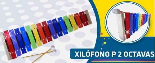 xilofono o metalofono placas de dos octavas 15 placas