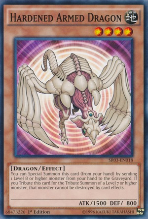 xion tcg sr03-en018 hardened armed dragon