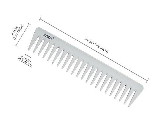 xnicx gris peine de dientes ancho