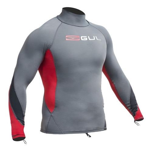 xola long sleeved rash vest (hombre), marca gul de uk
