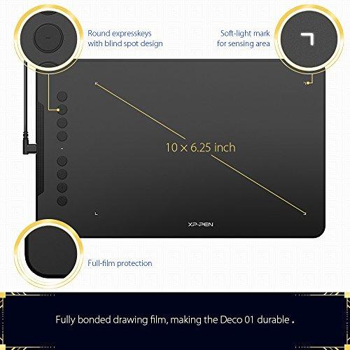 xppen deco 01 10x625 pulgadas digital graphics