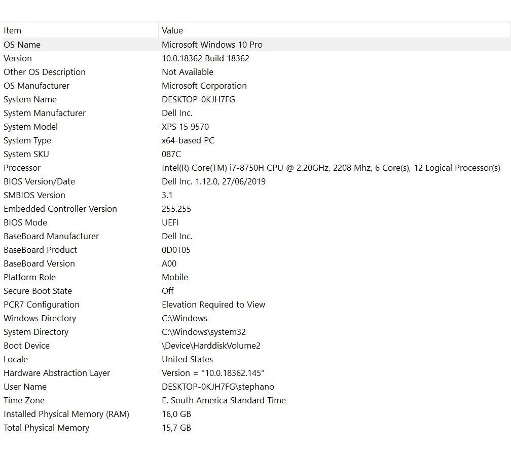 Xps 9570 I7 8750h 16gb 512ssd 1050ti 100 Dias Garantia Dell