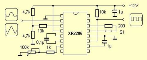 xr 2206 xr2206cp xr2206 generador de funciones ad9833
