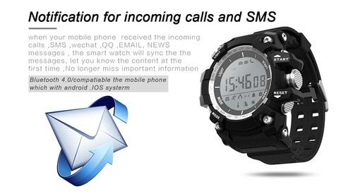 xr05 reloj sumergible podómetro termometro bluetooth