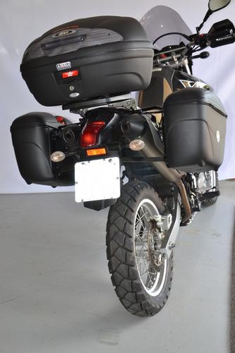 xt 660 r - bagageiro e suporte lateral para baú