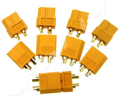 {100 enchufe cilíndrico amarillo cable conector