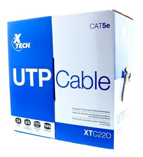 xtech caja cable utp categoria 5e gris de 305mts