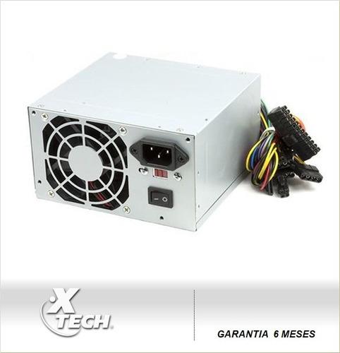 xtech fuente poder 600w (20+4pin) sata (sumcomcr)