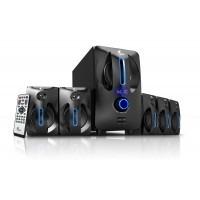 xtech - speaker system - wireless xtech black blue 5.1 chann