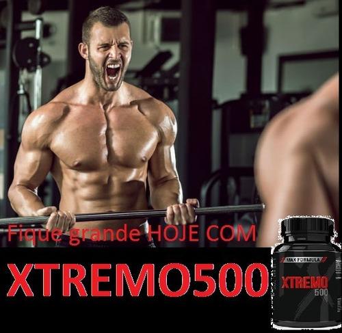 xtremo 500 hormonio músculos testosterona macho suplemento