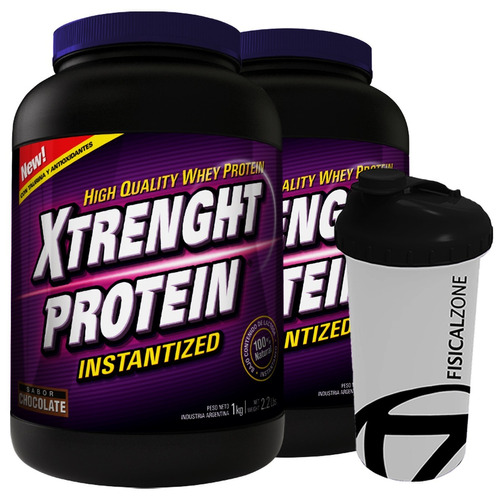 xtrenght protein 1 kg whey taurina bcaa promo x 2 + shaker