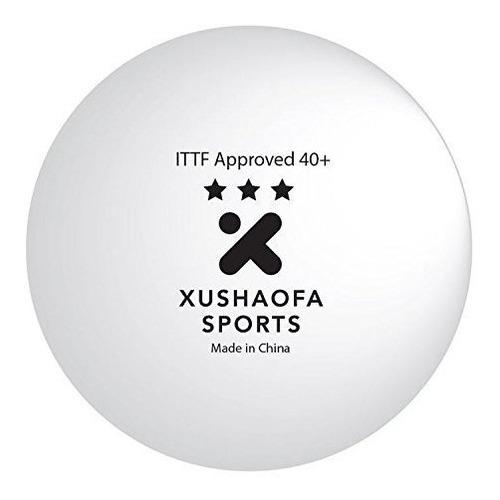 xushaofa 40 bolas de tenis de mesa sintéticas poly - 3 estr