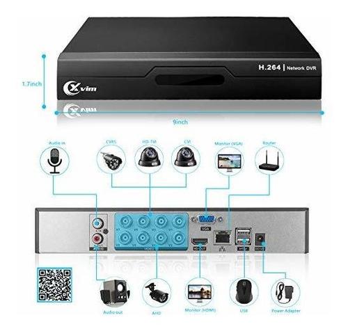 xvim 8 ch hd tvi 720p sistema de cámara de seguridad 1080p h