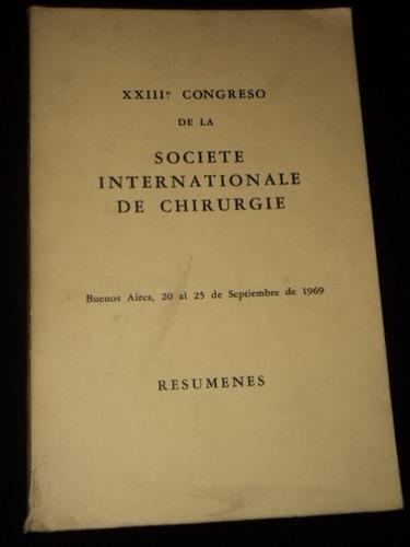 xxiii congreso de la sociedad internacional de cirugia 1969
