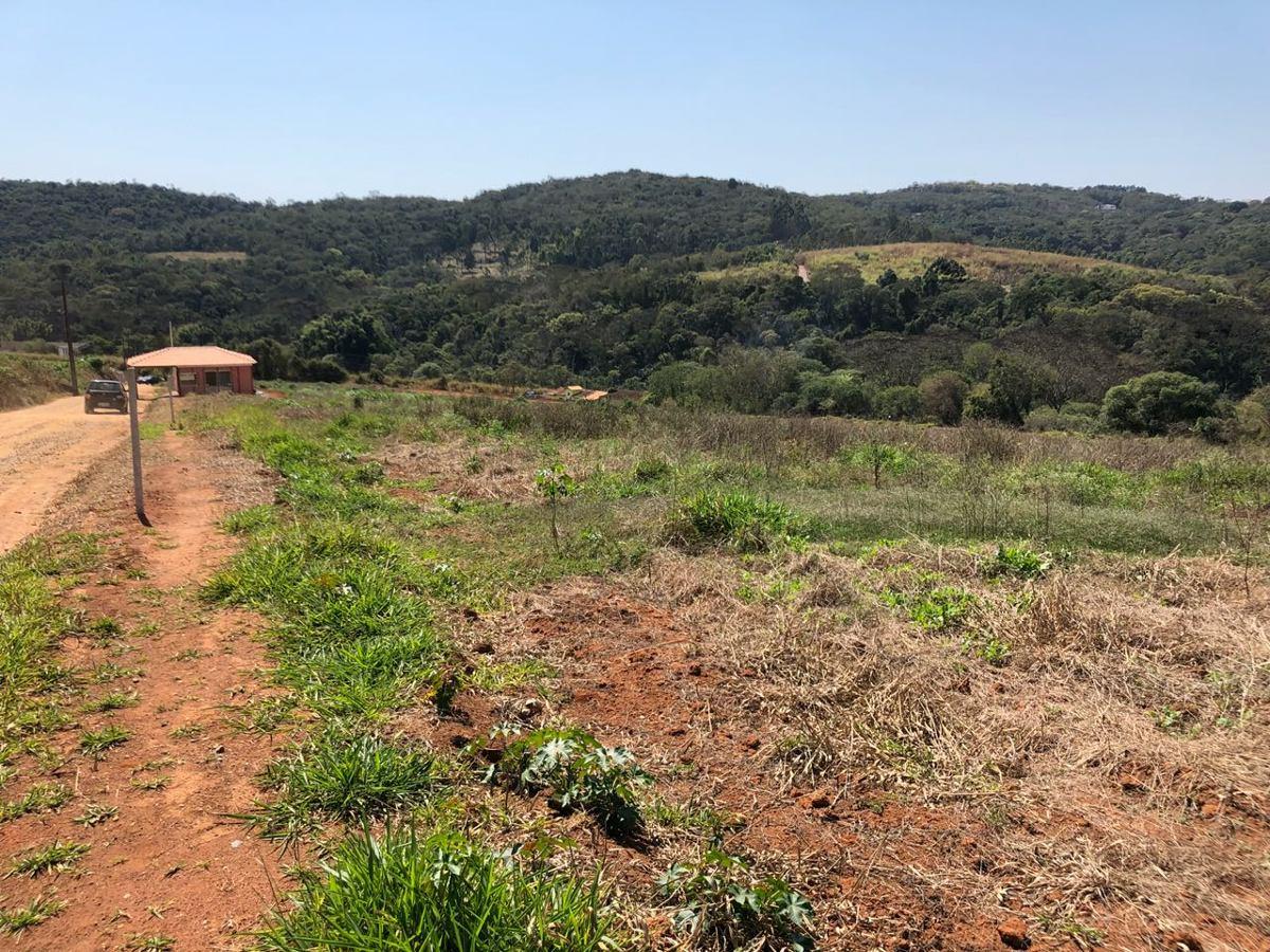 y área de lotes de 1000m² c/portaria rua cascalhada e bosque