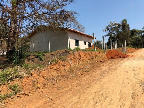 y local lindo p/construir sua chácara 1000m² c/rua cascalho