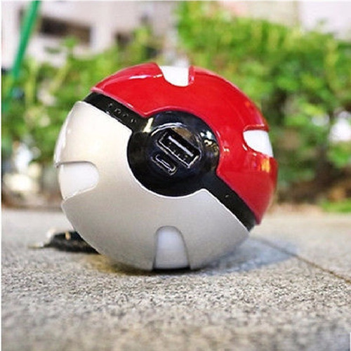 ya llego! cargador celular bola pokemon go power bank bateri