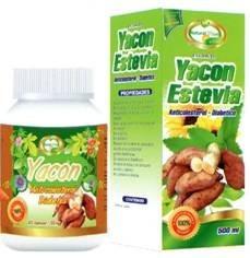 yacon estevia 100 capasulas 500ml extracto 100% natural