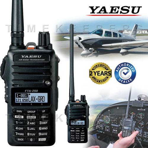 yaesu fta-250l radio de mano aviacion cessna piper cirrus
