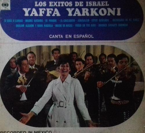 yaffa yarkoni exitos canta en español vinilo argentino pvl
