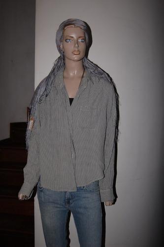 yagmour camisa de acetato cuadrille