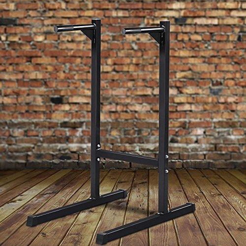 yaheetech heavy duty dip stand barra paralela bicep triceps