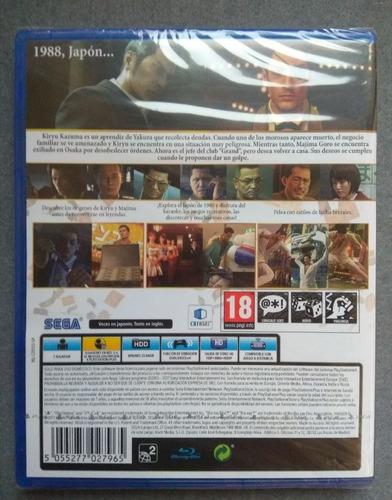 yakuza 0 zero ps4 nuevo sellado sotano virtual store