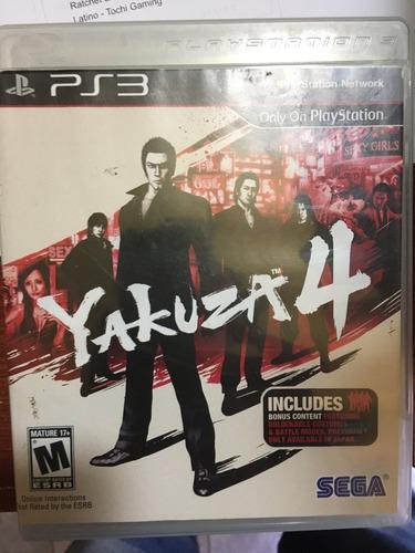 yakuza 4 ps3 - fisico