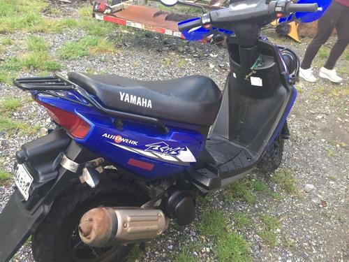 yamaha bws 100cc azul electrico