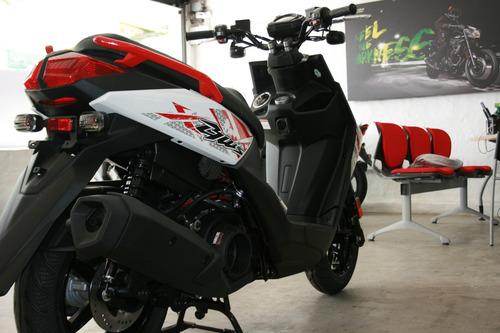yamaha bws fi  blanco rojo  2020