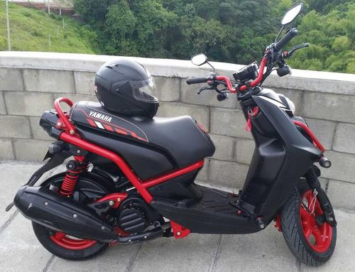 yamaha bws x motard 2014 125  bws 2 negra con rojo