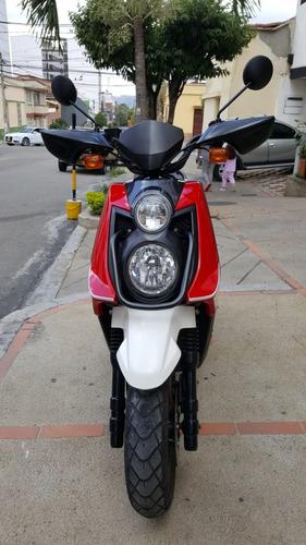 yamaha bws125 rojo-blanco
