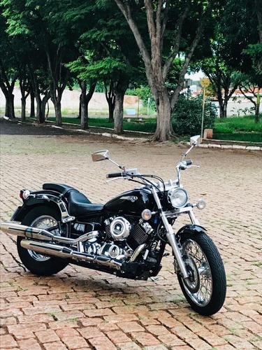 yamaha drag star 650 2008 preta