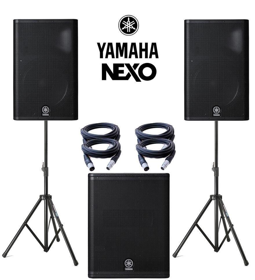 yamaha dxr15 bocinas 2 piezas dxs15 subwoofer. Black Bedroom Furniture Sets. Home Design Ideas