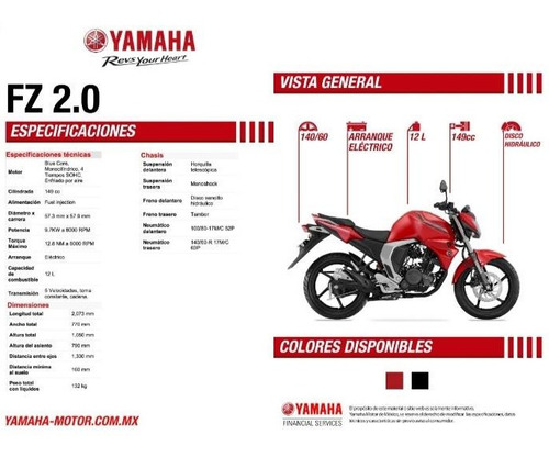yamaha fz 2.0 inyectada color negro