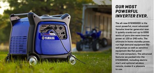yamaha inverter generador ef 6300 ise