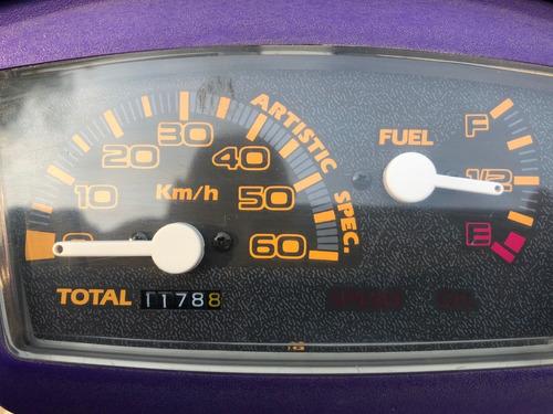yamaha, jog, motor 50cc, negro y morado, año 1993, 1178km