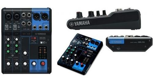 yamaha mg06 mezclador consola estéreo compacto de 6 entradas