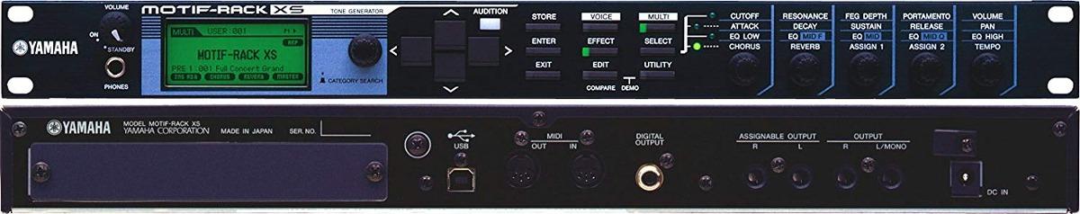Yamaha Motif Rack Xs 1u Motif Xs Generador De Tonos